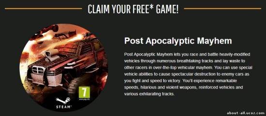 Post Apocalyptic Mayhem для Steam