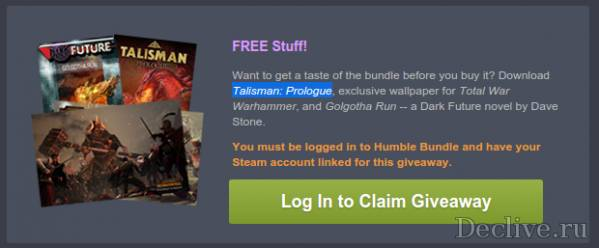 Раздача Talisman: Prologue от HumbleBundle
